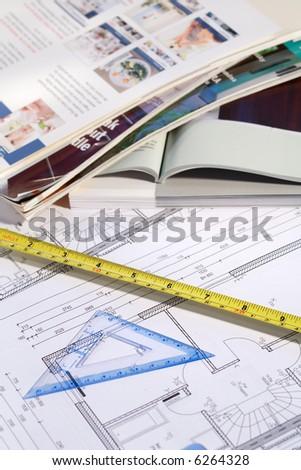 Planning home improvement - stock photo