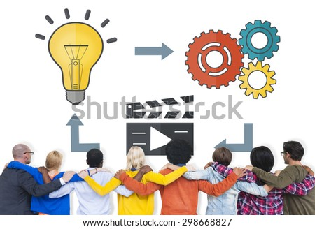 Planning Ideas Creativity Inspiration Thoughts Multimedia Concept - stock photo