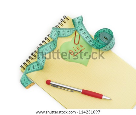 Planning of diet. - stock photo