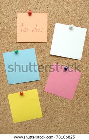 Planning on  the bulletin board - stock photo