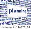 Planning poster design. Management message background - stock photo