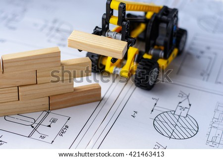 Planning, risk and strategy of project management in business. Business and construction concept. - stock photo