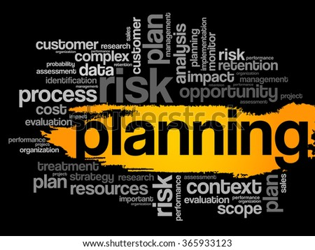 Planning word cloud, business concept - stock photo