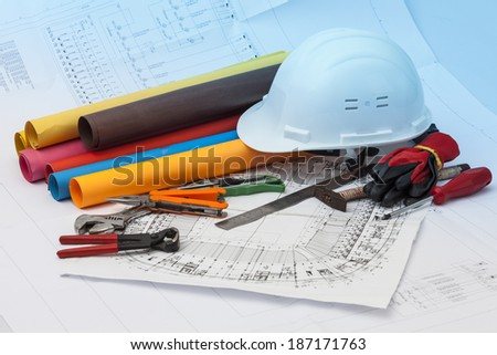 plans and projects - stock photo