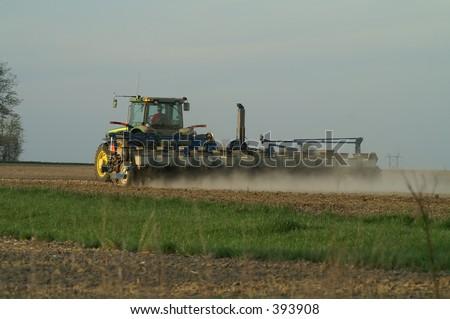planting corn - stock photo