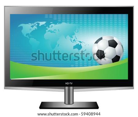 Plasma HD TV - stock photo