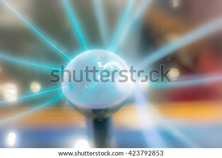 Plasma Static Electricity, blurred - stock photo