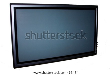 Plasma Television - stock photo
