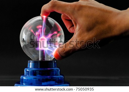Plasma Tesla Ball - stock photo