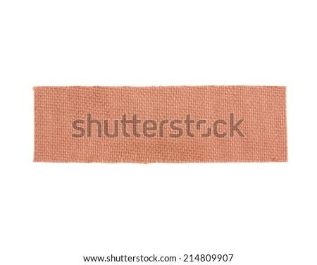 plaster band isolated on white background - stock photo
