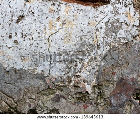plaster wall texture, grunge background - stock photo