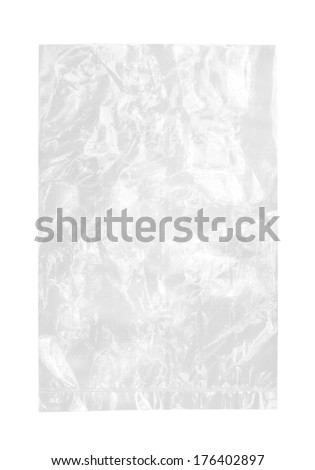 Plastic bag (with clipping path) isolated on white background - stock photo