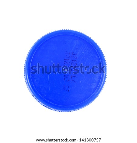 Plastic bottle caps isolated against a white background - stock photo
