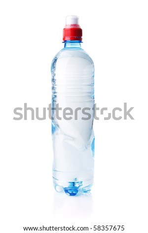 Plastic bottle isolated on white background . - stock photo