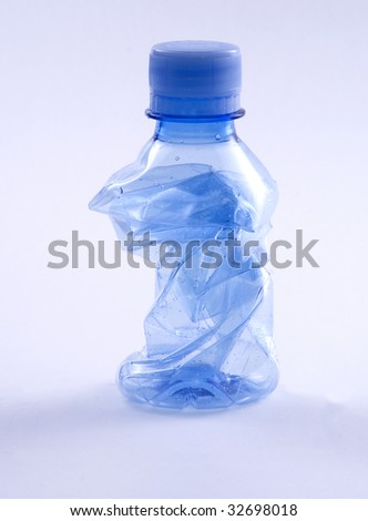 Plastic bottle- recycling - stock photo