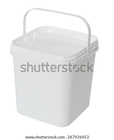 plastic bucket - stock photo