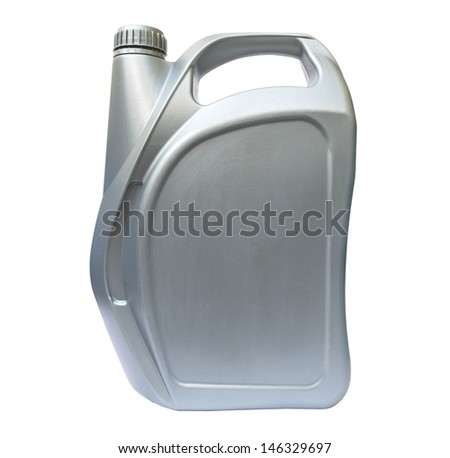 Plastic can isolated on white - stock photo