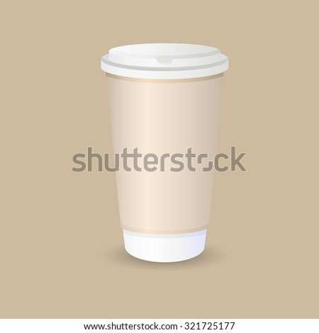 plastic coffee street cup illustration image - stock photo