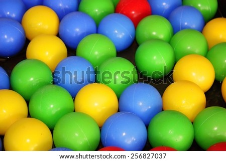 Plastic color balls background - stock photo