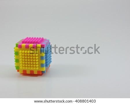 Plastic Construction Block for Kids - stock photo