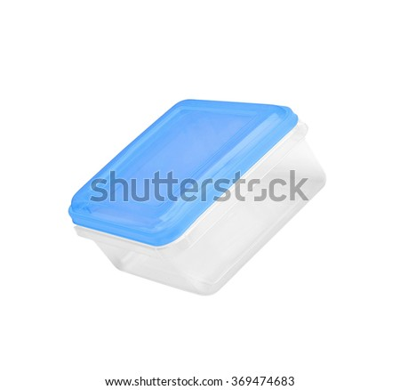 Plastic container for food - stock photo