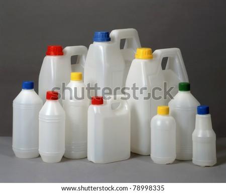 plastic containers - stock photo