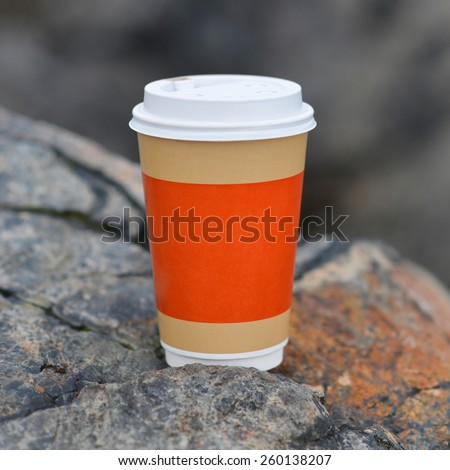 plastic cup coffee - stock photo