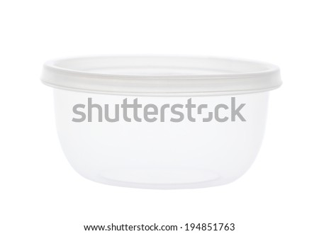 Plastic food cup isolated on white background - stock photo