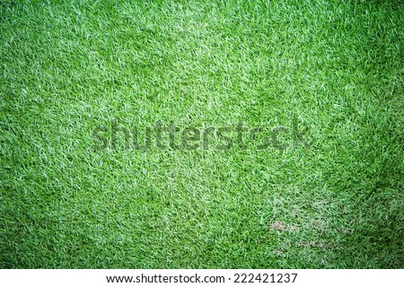 Plastic green grass texture for background - stock photo
