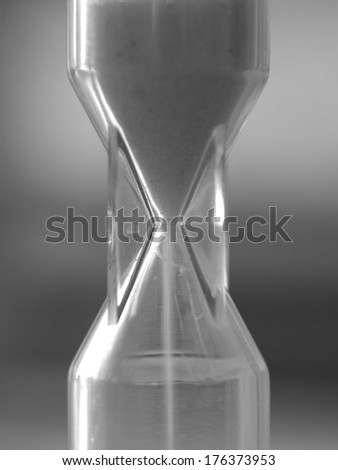 Plastic hourglass close up - stock photo