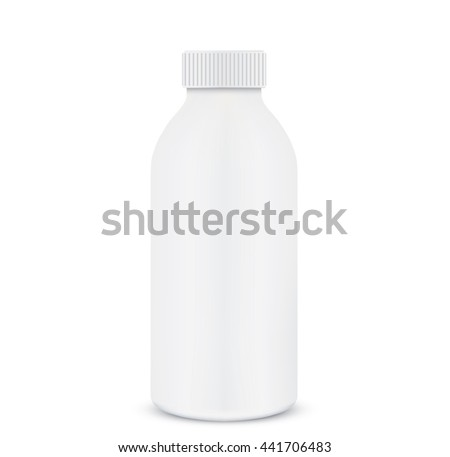 Plastic 1 liter bottle closed.  - stock photo