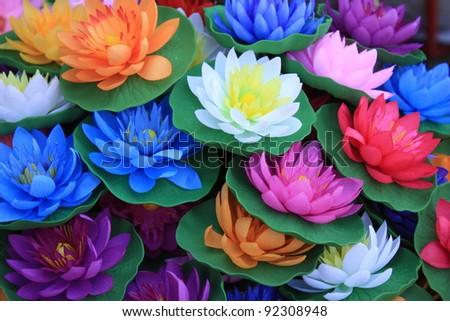 Plastic lotus. - stock photo