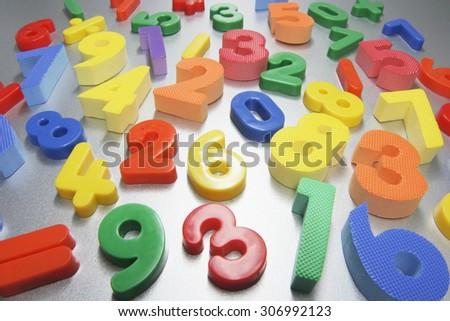Plastic Numbers - stock photo