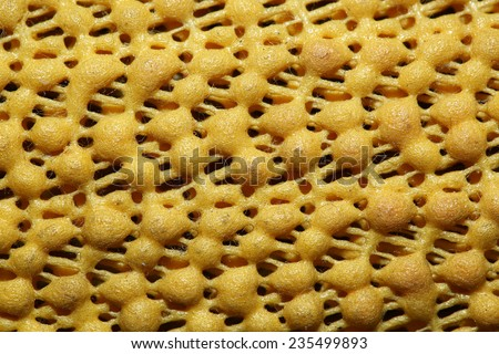 plastic polymer granules forming - stock photo