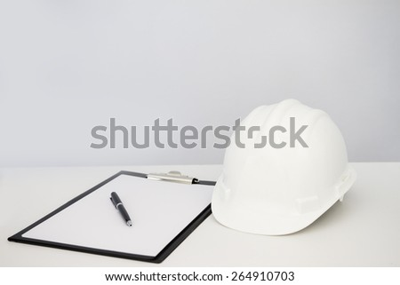 Plastic safety helmet  - stock photo