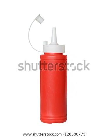 plastic sauce bottle - stock photo