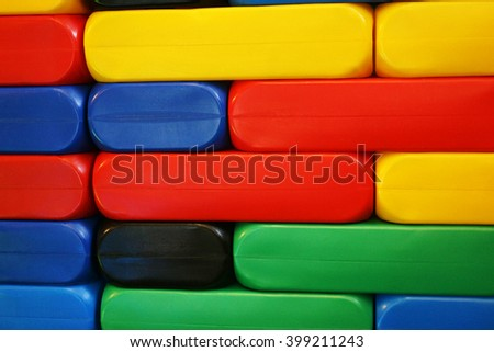 Plastic toy blocks - stock photo