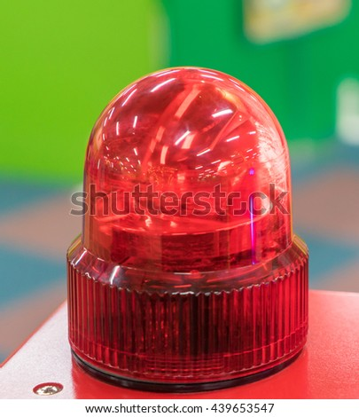 Plastic Toy Siren Ambulance light. Police emergency light. - stock photo