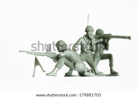 Plastic Toy Soldiers - stock photo
