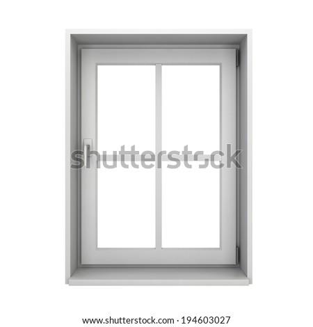 Plastic window. 3d illustration isolated on white background  - stock photo
