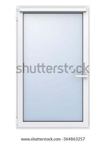 Plastic window on white background. 3D illustration. - stock photo