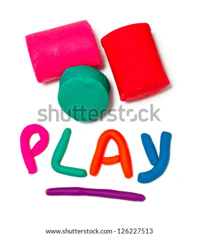 "plasticine ""play"" word - stock photo"