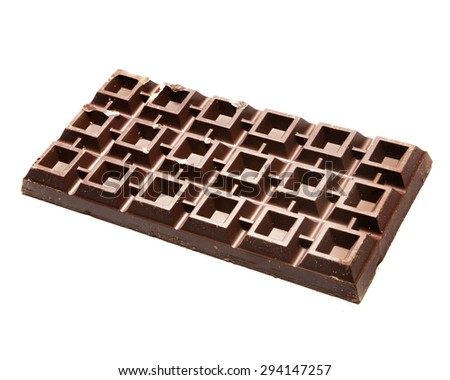 Plate of chocolate - stock photo