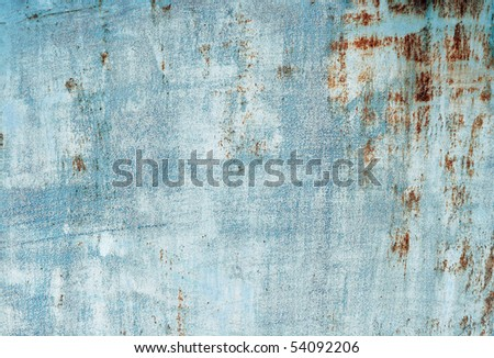 Plate of metal rusty on all background - stock photo