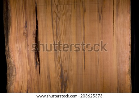 Plate of Yakusugi. It is a plate that lumber is produced from Yakushima World Heritage, from giant cedar. - stock photo