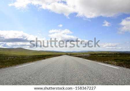 Plateau Highland of Norway - stock photo