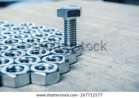 plated mechanical part - stock photo