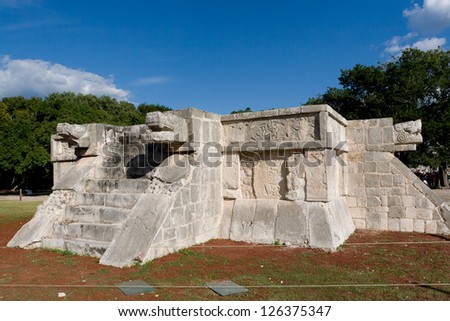 Platform of Venus at the Maya archaeological site of Chichen Itza, Yucatan, Mexico - stock photo