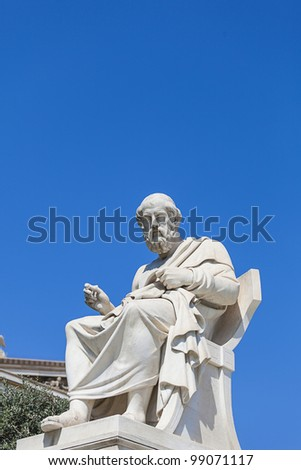 Plato , Academy of Athens,Greece - stock photo