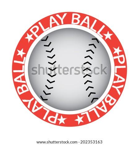 Play Ball! Baseball or Softball Stamp - stock photo